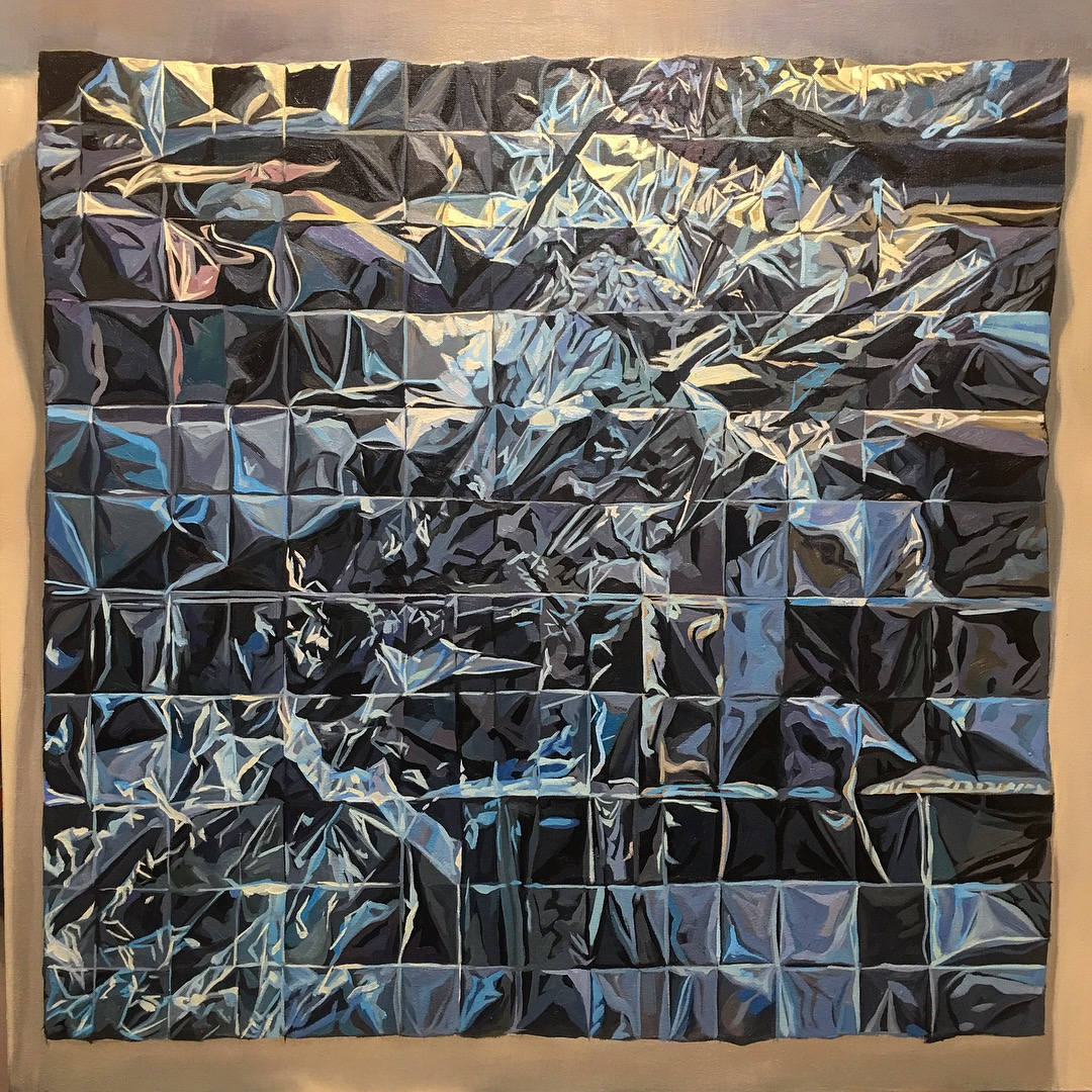 """Rift"" 90 cm x 90 cm Oil on Canvas, 2018"
