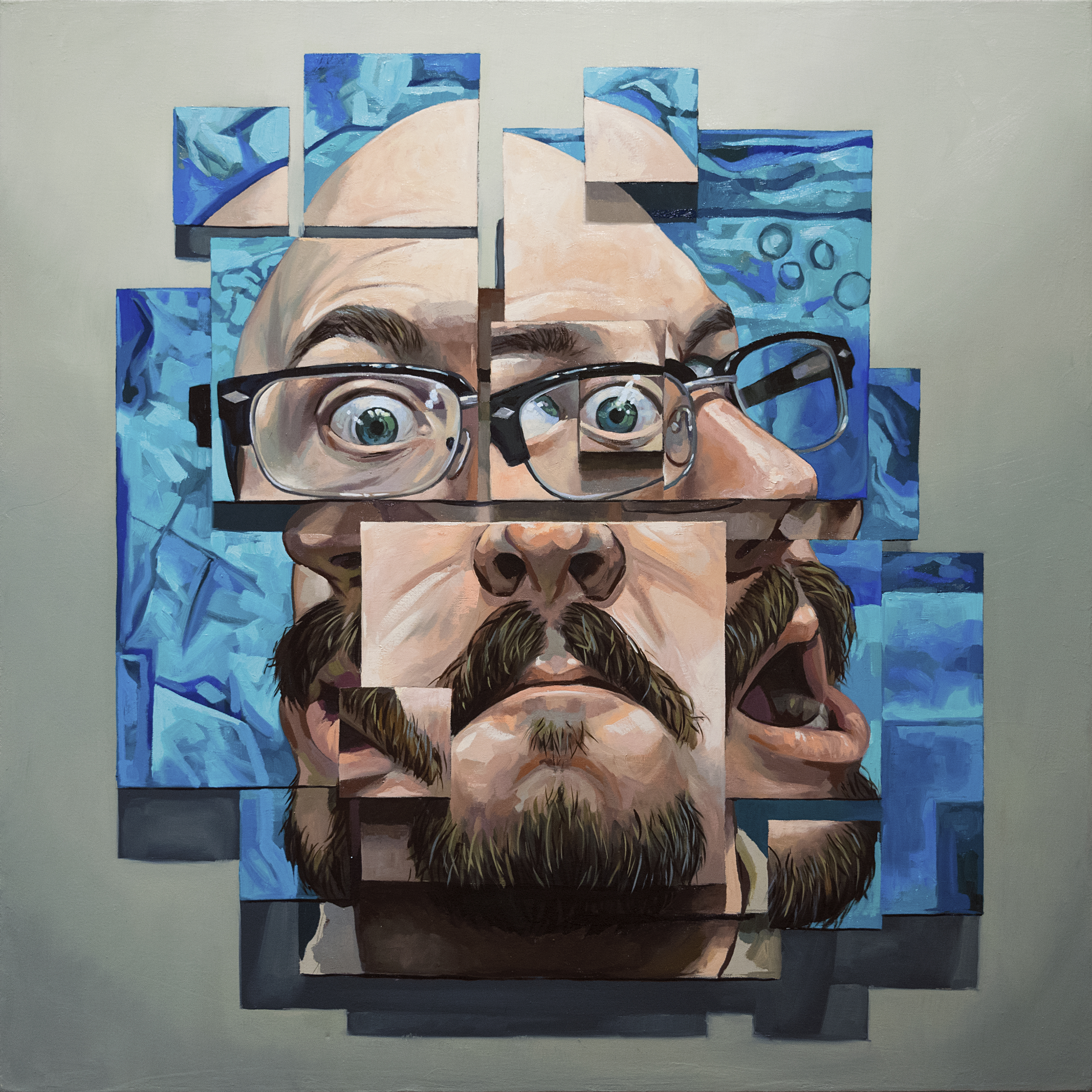 """Self"" 90 cm x 90 cm Oil on Canvas, 2018"
